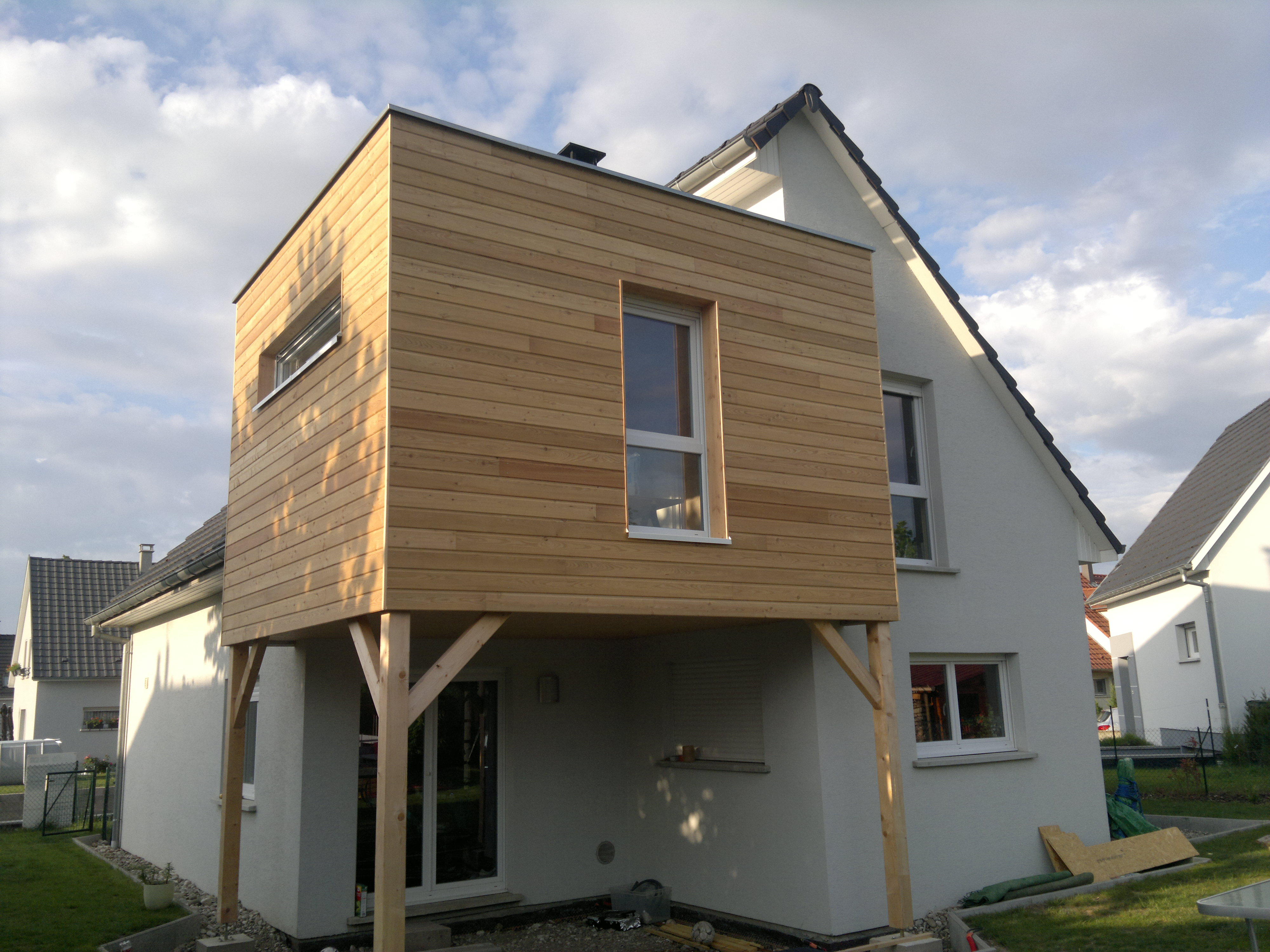 Devis construire une extension de maison 3 devis gratuits for Extension en bois